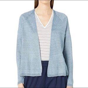 Eileen Fisher NWT Open Front Linen + Silk Cardigan